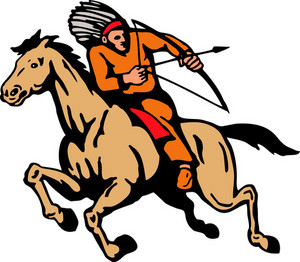 American Indian Riding Horse Bow And Arrow