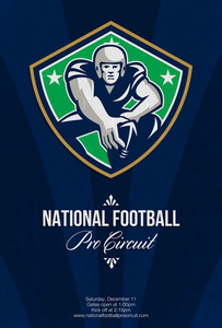 American National Football Pro Circuit Poster
