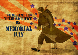 Cartaz americano do Memorial Day do patriota