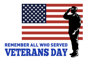 American Patriot Veterans Day Poster Greeting Card