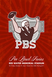 American Pro Football Bowl Retro Poster Art
