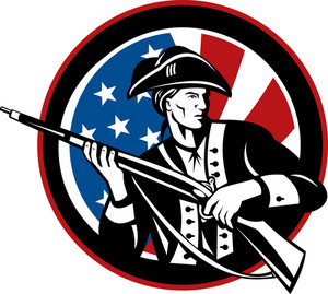 American Revolutionarty With Rifle