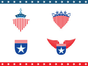 American Shield With Stars And Stripes
