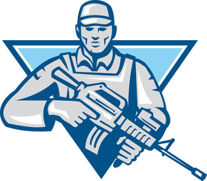 American Soldier Assault Rifle Retro