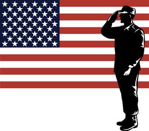 American Soldier Serviceman Saluting