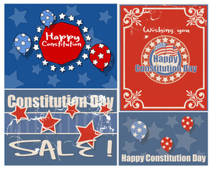 American Themed Constitution Day Vector Illustration