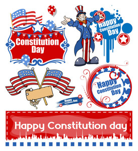 America's Constitution Day Design Vector Set
