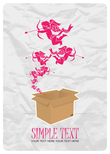 Amour Taking Off From A Box. Abstract Vector Illustration.