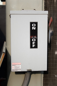 An electrical safety switch box for an industrial or commercial application.