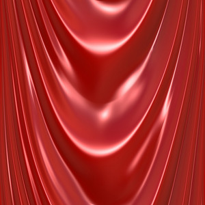 An illustration of a silky satin red drapery or curtain. This tiles seamlessly as a pattern in any direction.