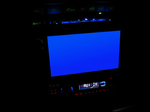 An in dash entertainment system which includes tv
