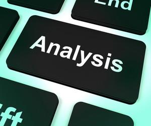 Analysis Computer Key Showing Checking And Examining