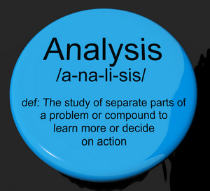 Analysis Definition Button Showing Probing Study Or Examining