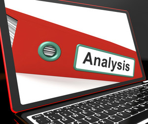 Analysis File On Laptop Showing Analyzed Data