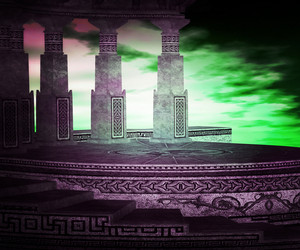 Ancient Altar Premade Backdrop