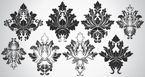 Ancient Art Of Fashionable Damask Shapes