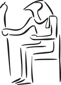 Ancient Egyptian Pharaoh.