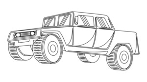 Ancient Jeep Drawing