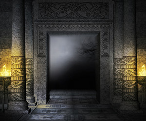 Ancient Palace Interior Background
