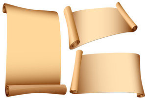 Ancient Scrolls. Vector.
