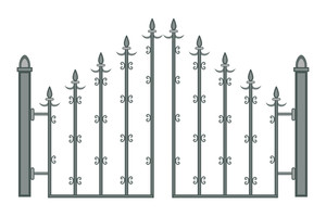 Ancient Spear Fence Gate