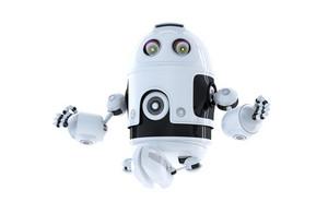 Android Robot Meditating