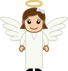 Angel Girl - Vector Character Cartoon Illustration