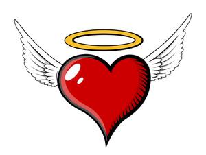 Angel Heart - Vector Illustration