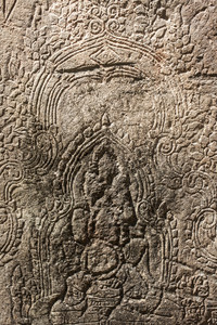 Angkor wat. Art detail on the stone