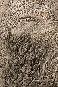 Angkor wat. Art detail on the stone
