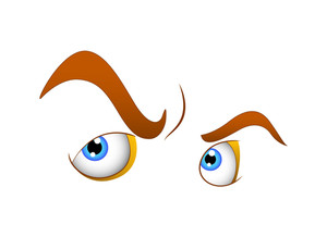 Angry Cartoon Eyes Vector