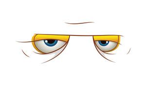 Angry Cartoon Eyes