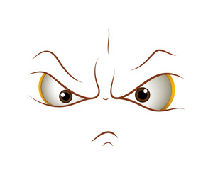 Angry Cartoon Face Expression
