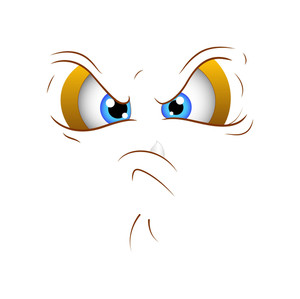Angry Cartoon Vector Face Expression