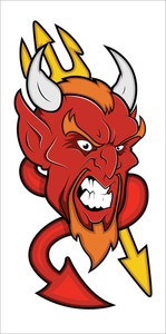 Angry Devil Mascot Vector Illustration