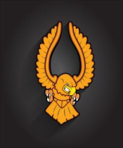 Angry Eagle Bird Mascot