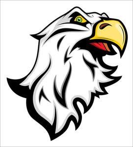 Angry Eagle Mascot