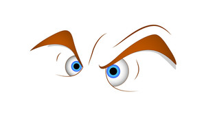 Angry Eyes Cartoon Vector