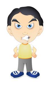 Angry Kid Character