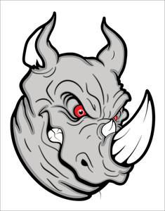 Angry Rhinoceros Mascot