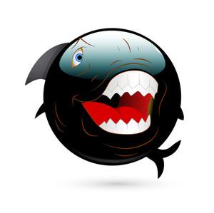 Angry Shark Smiley
