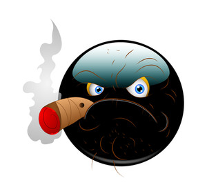 Angry Smoking Smiley