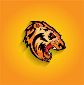 Angry Tiger Face Mascot
