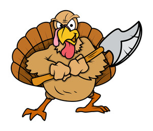 Angry Turkey Bird With Dagger