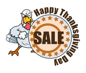 Angry Turkey Thanksgiving Day Sale Banner