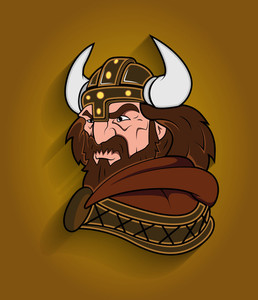 Angry Wiking Cartoon Character