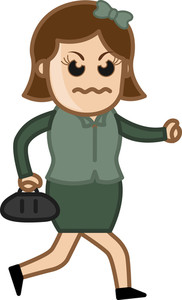 Angry Woman - Vector Character Cartoon Illustration