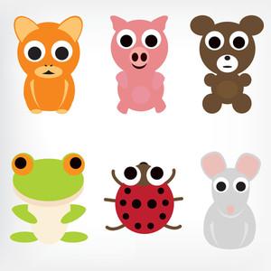Animal Characters Set