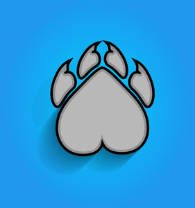Animal Paw Vector Shape