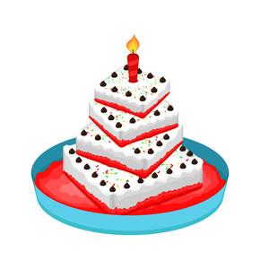 Anniversary Cake Vector